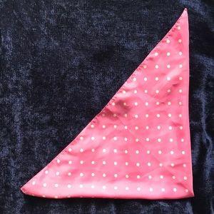 UO Pink Polka Dot Silk Scarf